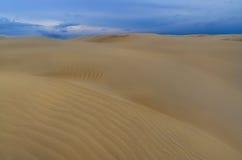 Dune de désert et ciel de tempête, Australie Photo stock
