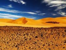 Dune de sable dans le désert de Sahara Image stock