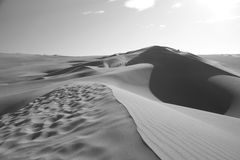 Dune de sable en Ica Peru photos stock