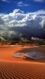Dune del deserto con le nubi Immagine Stock Libera da Diritti