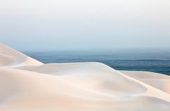 Dune del deserto della sabbia fotografia stock