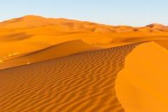 Dune del Sahara in Merzouga, Africa - la grande duna di Merzouga immagine stock