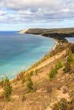 Dune dell'orso di sonno, impero Michigan Fotografia Stock Libera da Diritti