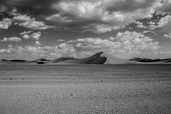 Dune 35, Desert Landscape with Cloudscape in Black and White Stock Photos