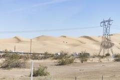 Dune di Algones, la contea di Imperial, California Immagini Stock