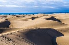 Dune di Maspalomas in Gran Canaria Fotografia Stock Libera da Diritti