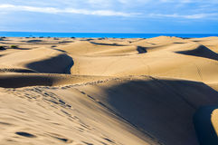Dune di Maspalomas in Gran Canaria Immagine Stock Libera da Diritti