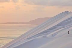 Dune di sabbia bianche immagine stock libera da diritti