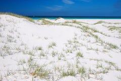 Dune di sabbia bianche pure Fotografia Stock