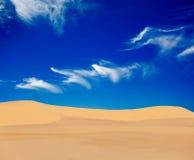 Dune di sabbia bianche su alba, Vietnam Fotografie Stock Libere da Diritti