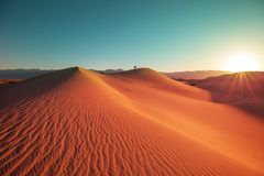 Dune di sabbia in California immagine stock