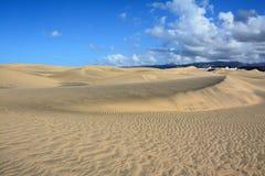 Dune di sabbia dei maspalomas Fotografia Stock Libera da Diritti