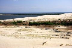 Dune di sabbia della Lituania Klaipeda Immagini Stock