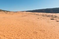 Dune di sabbia dentellare di corallo Fotografie Stock Libere da Diritti