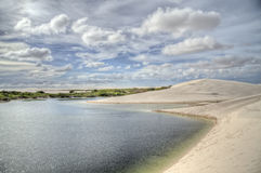 Dune di sabbia, Lencois Fotografie Stock