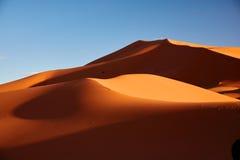 Dune di sabbia nel deserto di Sahara Immagine Stock