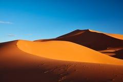 Dune di sabbia nel deserto di Sahara, Marocco Immagine Stock Libera da Diritti