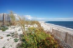 Dune di sabbia nella costa di Finistere Fotografia Stock Libera da Diritti