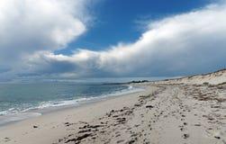 Dune di sabbia nella costa di Finistere Fotografia Stock
