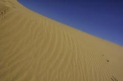 Dune di sabbia perfette del deserto Fotografia Stock
