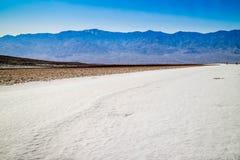 Dune di sabbia piane del Mesquite nel parco nazionale di Death Valley fotografie stock