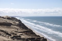 Dune di sabbia di Rubjerg Knude fotografia stock