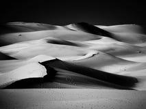 Dune di sabbia, versione in bianco e nero fotografie stock libere da diritti