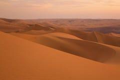 Dune di sabbia vicino a Huacachina, regione di AIC, Perù Immagine Stock Libera da Diritti