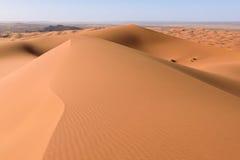 Dune di Sahara Erg Chebbi, Merzouga, Marocco Immagini Stock