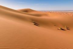 Dune di Sahara Erg Chebbi, Merzouga, Marocco Immagine Stock Libera da Diritti
