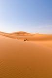 Dune di Sahara Erg Chebbi, Merzouga, Marocco Immagine Stock