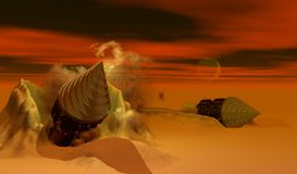 Dune Drills Royalty Free Stock Photos