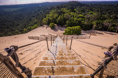 Dune du Pilat bij 114 Meter het hoogste zandduin in Europa dichtbij Royalty-vrije Stock Foto