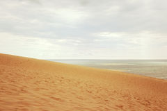 Dune du Pilat in France. Dune du Pilat. Dune of Pilat, the tallest sand dune in Europe, located in the Arcachon Bay area, France Royalty Free Stock Photos