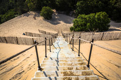 Dune du Pilat at 114 Metres the highest sand dune in Europe  Royalty Free Stock Photo