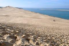 Dune du Pyla, Arcachon, France. Dune du Pyla (aka Dune du Pilat or Great Dune of Pyla), the tallest sand dune in Europe, on the coast, la Teste-de-Buch, bay of Royalty Free Stock Photo