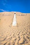Dune du Pyla - het grootste zandduin in Europa, Aquitaine, Frank Royalty-vrije Stock Foto's