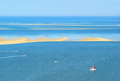 Dune du Pyla sand spit. In France Stock Photo