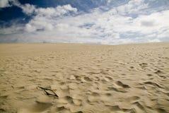 Dune e cielo di sabbia Fotografie Stock