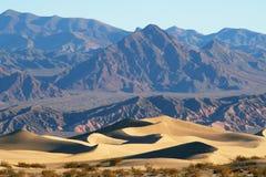Dune e montagne del deserto Immagini Stock