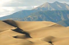 Dune e montagne di sabbia Fotografia Stock Libera da Diritti