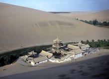 Dune e tempiale, Cina Fotografia Stock