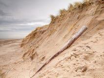 Dune endommagée par tempête Photographie stock