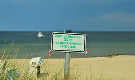 Dune enter forbidden! Stock Images