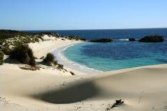 Dune et plage de sable Photographie stock