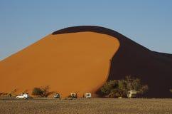 Dune 45. Famous Dune 45 at Sossusvlei, Namib Desert, Namibia Stock Photos