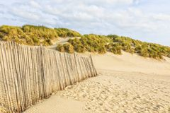 Free Dune Fence At Normandy Beach Stock Photos - 128249113