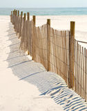 Dune Fence on Beach Stock Photography