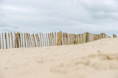 Dune fence on the beach Royalty Free Stock Photography