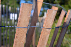 Dune Fence at the Beach Royalty Free Stock Photos
